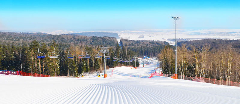 The ski resort Siličy (Silichy) - the visiting card of Belarus