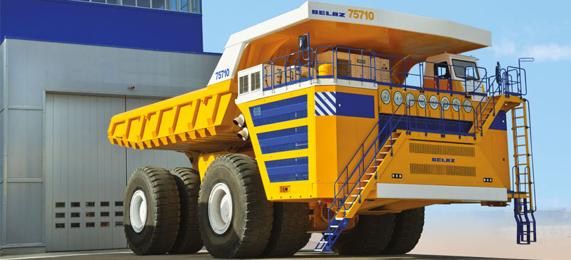 BelAZ-75710 - the world's largest dump truck with load capacity