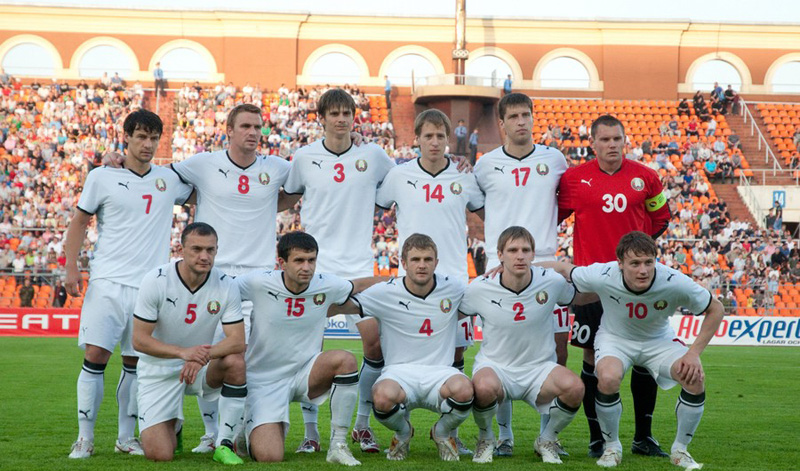 The national football team of Belarus. Photo: interfax.by