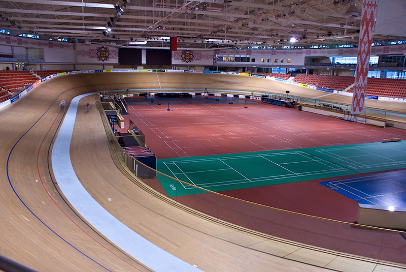 The cycling ground of «Minsk-Arena» is being prepared for the World Track Racing Championship. Photo: interfax.by