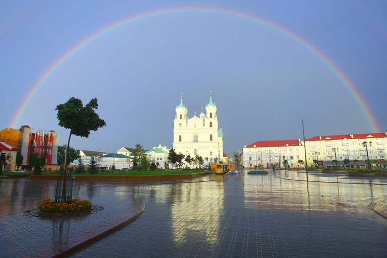 Rainbow over the Grodno, BelTA